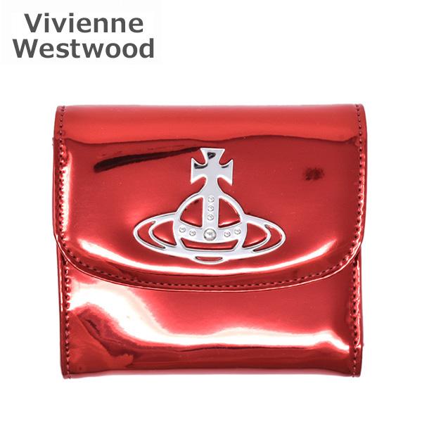AW2019-20 ヴィヴィアンウエストウッド 財布 51070026-01029-H401 レッド Johanna Medium Wallet W/Coin Pocket レディース