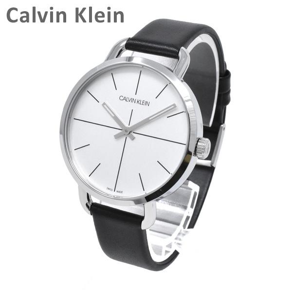 Calvin Klein CK カルバンクライン 時計 腕時計 K7B231CY EVEN EXTENSION イーブンエクステンション シルバー/ブラック レザー レディース ウォッチ クォーツ 【送料無料(※北海道・沖縄は1,000円)】