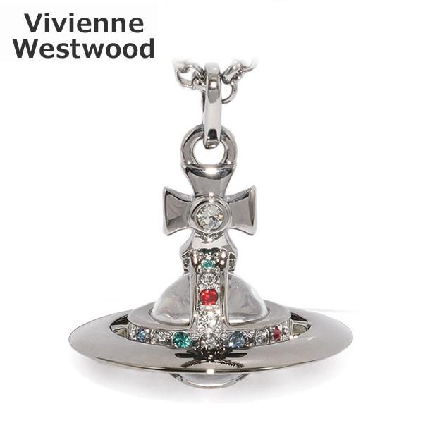 Vivienne Westwood (ヴィヴィアンウエストウッド) ペンダント ネックレス 63020097 S001 ニュータイニーオーブ ガンメタル アクセサリー メンズ レディース 【送料無料(※北海道・沖縄は1,000円)】