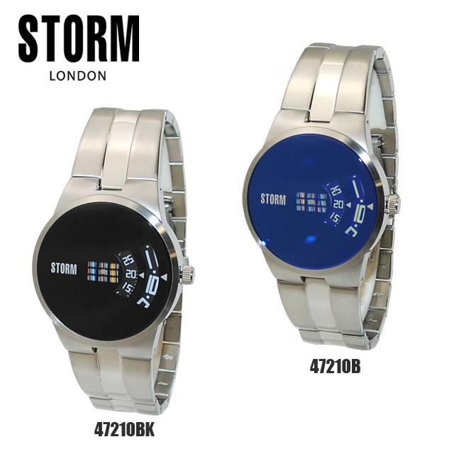 《》STORM LONDON(ストームロンドン) 時計 腕時計 TRION 47210BK 47210B ブラック メンズ 国内正規品【送料無料(※北海道・沖縄は1,000円)】
