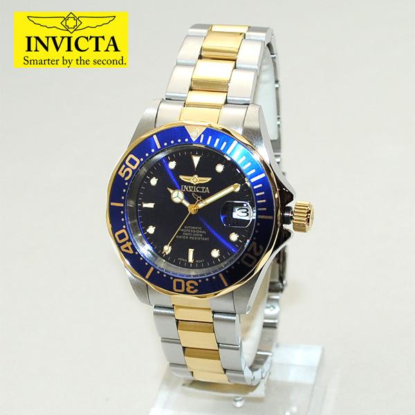 インビクタ 腕時計 INVICTA 時計 8928 Pro Diver プロダイバー ブルー/ゴールド/シルバー メンズ インヴィクタ 【送料無料(※北海道・沖縄は1,000円)】
