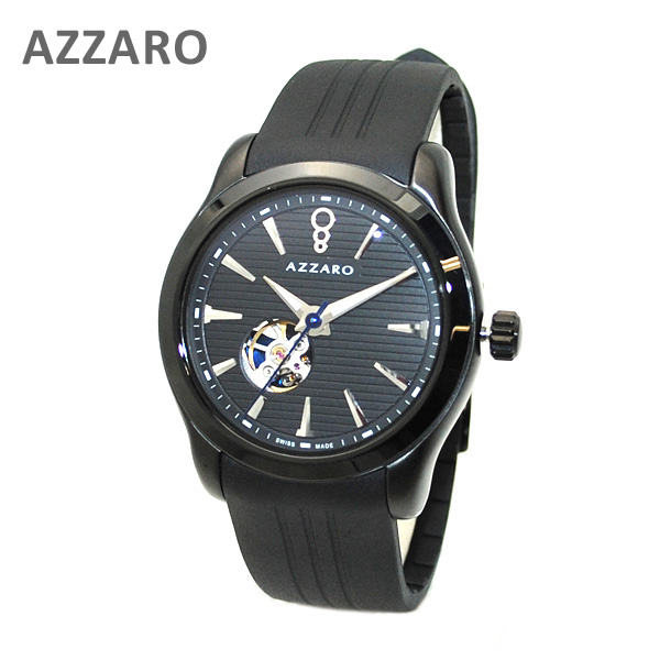 AZARRO (アザロ) 腕時計 AZ2260.46BB.000 Coastline Open View black ブラック 黒 時計 メンズ 自動巻き ラバー 【送料無料(※北海道・沖縄は1,000円)】