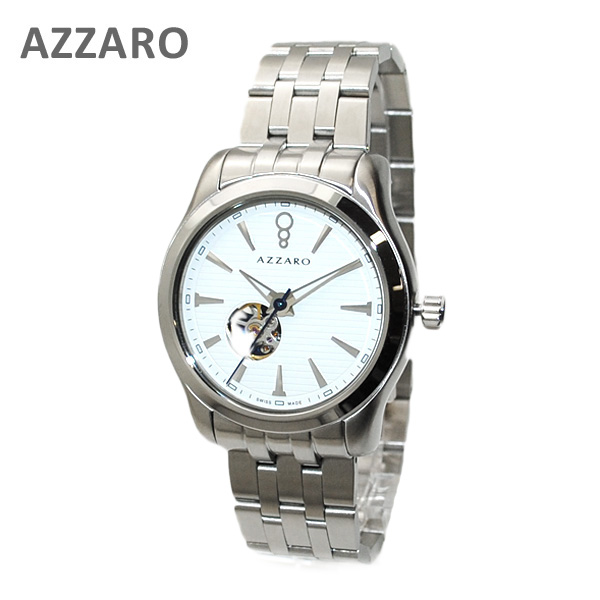 AZARRO (アザロ) 腕時計 AZ2260.16AM.000 Coastline Open View White / Metal ホワイト シルバー 時計 メンズ 自動巻き ブレス 【送料無料(※北海道・沖縄は1,000円)】