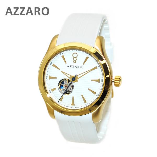 AZARRO (アザロ) 腕時計 AZ2260.66AA.000 Coastline Open View White / White ホワイト ゴールド Gold 時計 自動巻き ラバー 【送料無料(※北海道・沖縄は1,000円)】