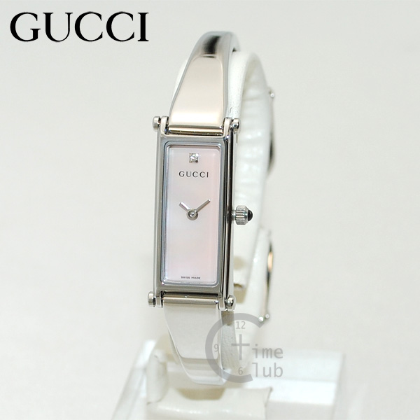 GUCCI(グッチ) 時計 腕時計 YA015554 1P-LSS-PMP シルバー/ピンク レディース バングル 【送料無料(※北海道・沖縄は1,000円)】