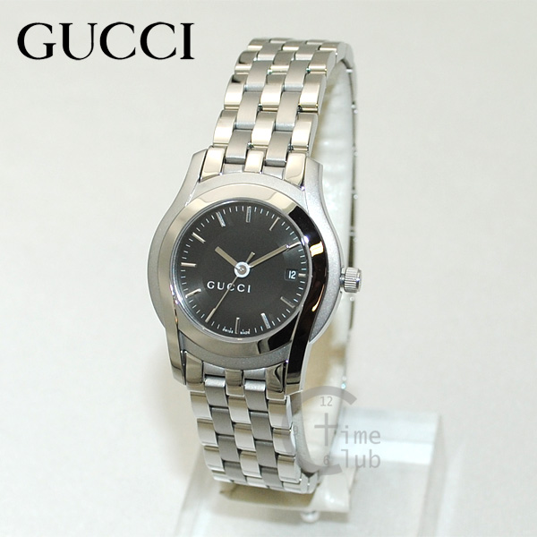 GUCCI(グッチ) 時計 腕時計 YA055518 LSS-BLK シルバー/ブラック レディース ブレス 【送料無料(※北海道・沖縄は1,000円)】