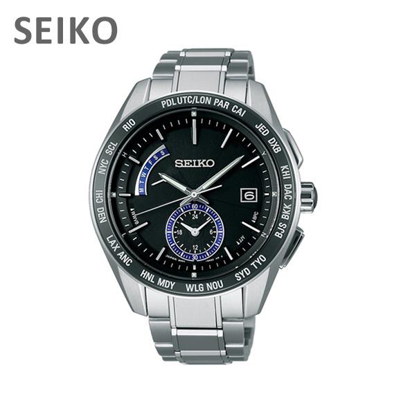 【国内正規品】 SEIKO(セイコー) 時計 腕時計 SAGA179 BRIGHTZ ブライツ シルバー/ブラック ソーラー 電波時計 メンズ 【送料無料(※北海道・沖縄は1,000円)】
