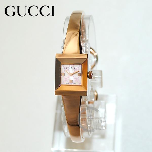 GUCCI(グッチ) 時計 腕時計 YA128518 ピンクゴールド/ピンクシェル Gフレーム レディース 【送料無料(※北海道・沖縄は1,000円)】
