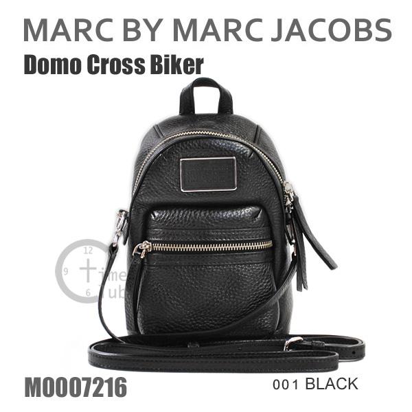 MARC BY MARC JACOBS マークバイマークジェイコブス ショルダーバッグ バッグ M0007216 001 BLACK ブラック 黒 Domo Cross Biker レザー 斜めがけ マーク・ジェイコブス 【送料無料(※北海道・沖縄は1,000円)】