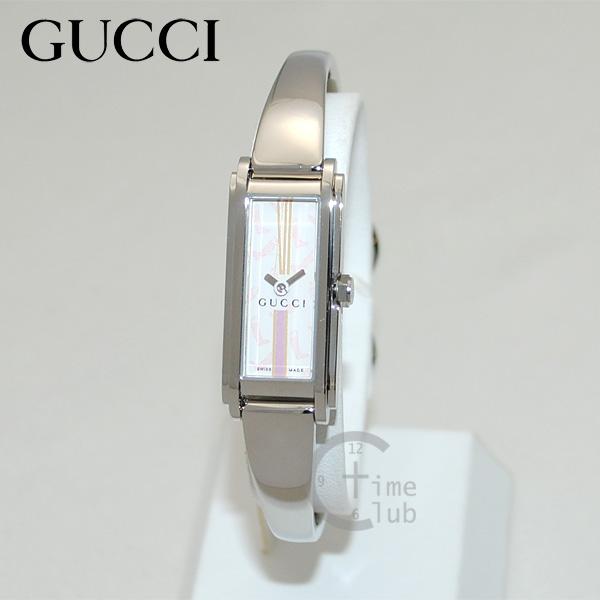 GUCCI(グッチ) 時計 腕時計 YA109503 シルバー/ホワイト レディース バングル 【(※北海道・沖縄は1,000円)】