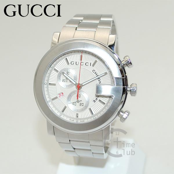 GUCCI(グッチ) 時計 腕時計 YA101339 Gラウンド クロノグラフ シルバー メンズ ブレス 【送料無料(※北海道・沖縄は1,000円)】