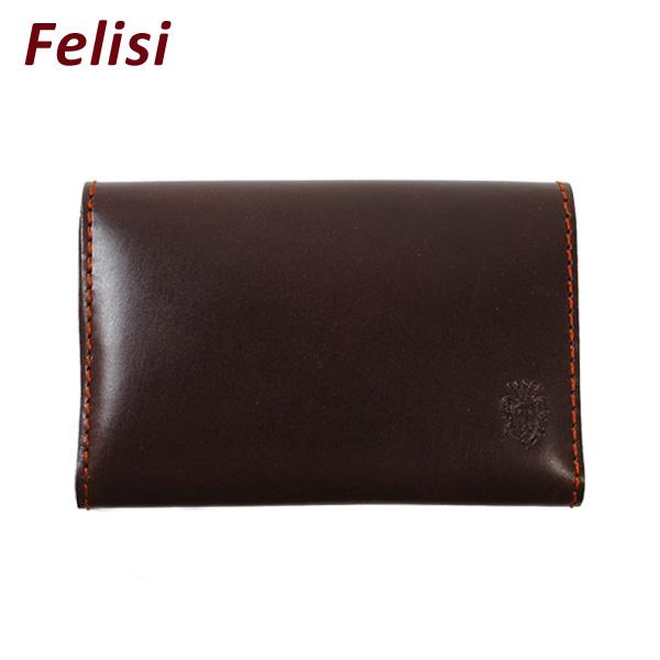Felisi (フェリージ) カードケース 名刺入れ 909-AA 0002 REDDISH 財布 ウォレット メンズ レディース 【送料無料(※北海道・沖縄は1,000円)】