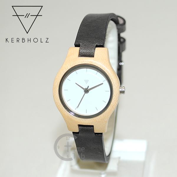 【国内正規品】 KERBHOLZ (カーボルツ) 時計 腕時計 Adelheid Maple Leather アーデルハイト メープル ブラック ウッド レディース 天然 木製 ハンドメイド レザー 【送料無料(※北海道・沖縄は1,000円)】
