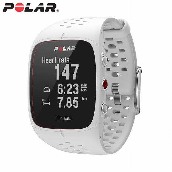 【国内正規品】 ポラール スマートウォッチ M430 WH ホワイト メンズ レディース 腕時計 POLAR 【送料無料(※北海道・沖縄は1,000円)】