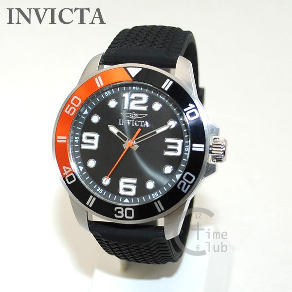 インビクタ 腕時計 INVICTA 時計 21853 Pro Diver プロダイバー ブラック/シルバー/オレンジ ブレス メンズ インヴィクタ 【送料無料(※北海道・沖縄は1,000円)】