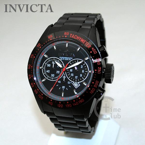 INVICTA (インビクタ) 腕時計 時計 19296 Speedway クロノグラフ ブラック レッド イオンプレーティング ブレス メンズ インヴィクタ 【送料無料(※北海道・沖縄は1,000円)】