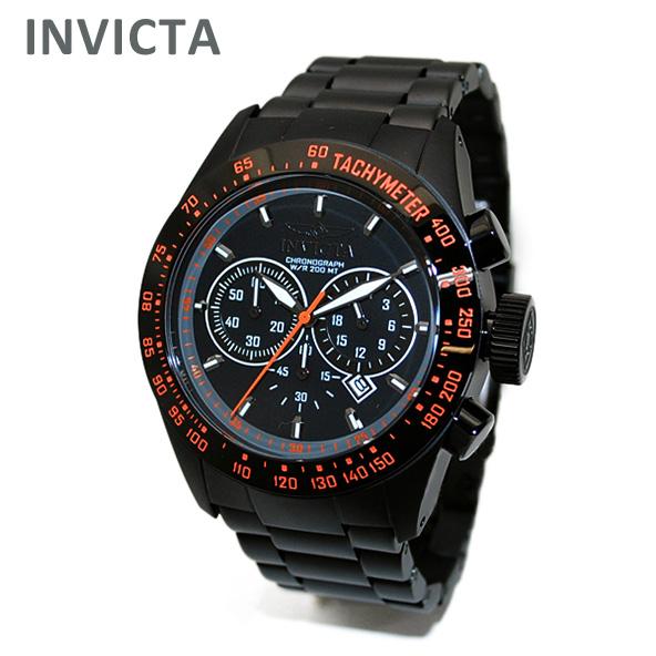 INVICTA (インビクタ) 腕時計 時計 19295 Speedway クロノグラフ ブラック オレンジ イオンプレーティング ブレス メンズ インヴィクタ 【送料無料(※北海道・沖縄は1,000円)】