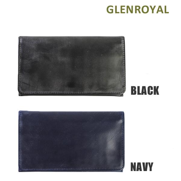 グレンロイヤル 財布 長財布 03-5568 BLACK NAVY GLENROYAL 小銭入れ付 ボックスなし ブライドル レザー メンズ 【送料無料(※北海道・沖縄は1,000円)】
