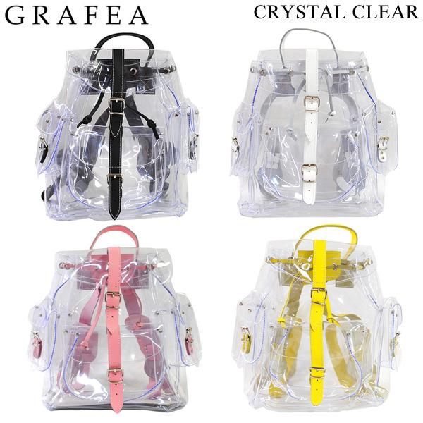 GRAFEA グラフィア バッグ CRYSTAL CLEAR リュック デイパック 全4色 バックパック 透明 PVC レザー レディース 【送料無料(※北海道・沖縄は1,000円)】