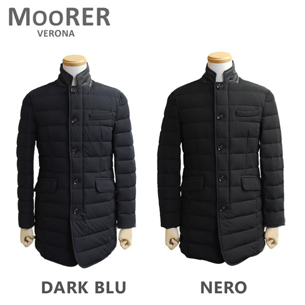MOORER ムーレー ダウンコート NABIL KN NERO ブラック DARK BLU ダークブルー ダウンジャケット メンズ 【送料無料(※北海道・沖縄は1,000円)】