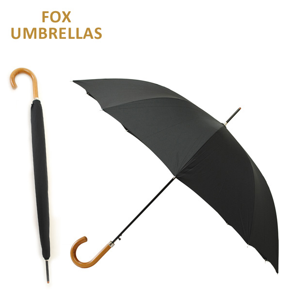 FOX UMBRELLAS (フォックスアンブレラ) 長傘 GA2 BK ブラック 雨具 ブランド傘 【送料無料(※北海道・沖縄は1,000円)】