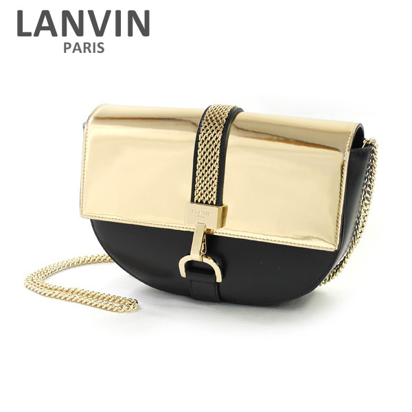 LANVIN PARIS (ランバン パリス) Lien Shoulder Bag ショルダーバッグ LW-BGRO00-HEVA-E17 M11 ゴールド/ブラック レディース バッグ 2017SS 【送料無料(※北海道・沖縄は1,000円)】