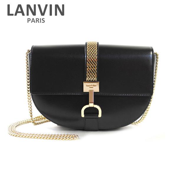 LANVIN PARIS (ランバン パリス) Lien Shoulder Bag ショルダーバッグ LW-BGRO00-VANE-E17 10 ブラック レディース バッグ 2017SS 【送料無料(※北海道・沖縄は1,000円)】
