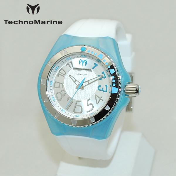 TechnoMarine テクノマリーン 腕時計 TM115224 CRUISE ORIGINAL ライトブルー/シルバー/ホワイト ラバー ウォッチ テクノマリン 時計 【送料無料(※北海道・沖縄は1,000円)】