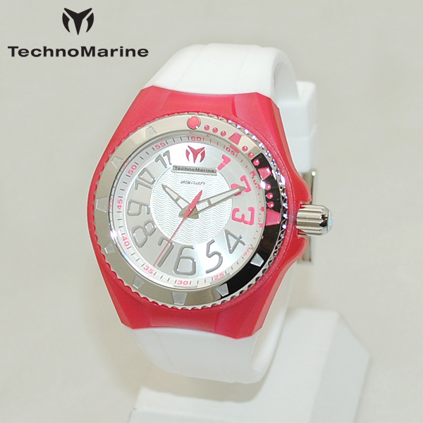 TechnoMarine テクノマリーン 腕時計 TM115225 CRUISE ORIGINAL レッド/シルバー/ホワイト ラバー ウォッチ テクノマリン 時計 【送料無料(※北海道・沖縄は1,000円)】