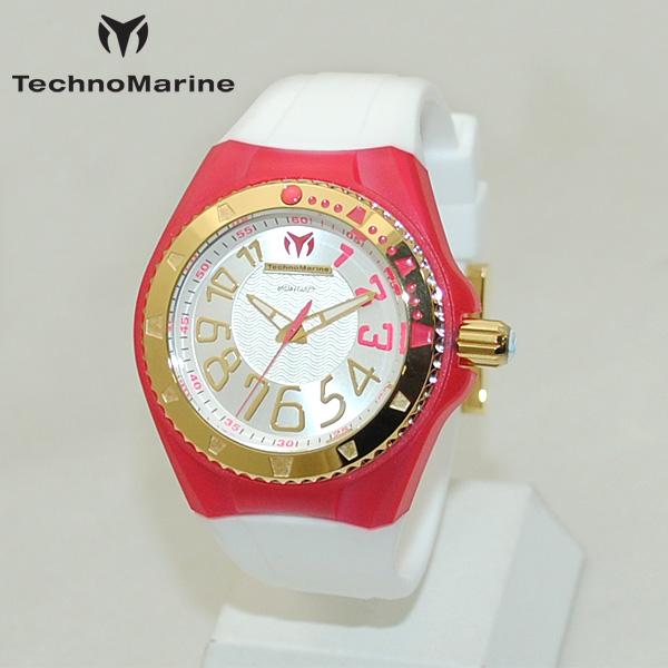 TechnoMarine テクノマリーン 腕時計 TM115228 CRUISE ORIGINAL レッド/ゴールド/ホワイト ラバー ウォッチ テクノマリン 時計 【送料無料(※北海道・沖縄は1,000円)】