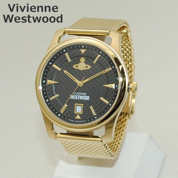 Vivienne Westwood (ヴィヴィアンウエストウッド) 腕時計 VV185BKGD 時計 ゴールド ブレス メンズ ヴィヴィアン 【送料無料(※北海道・沖縄は1,000円)】
