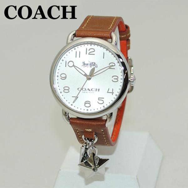COACH (コーチ) 腕時計 14502820 シルバー/ブラウン レザー レディース 時計 ウォッチ 【送料無料(※北海道・沖縄は1,000円)】