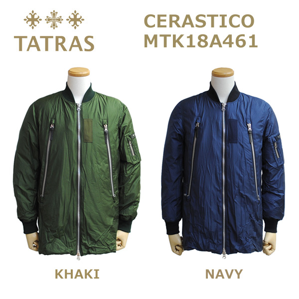 TATRAS (タトラス) ダウンジャケット メンズ MTK18A461 CERASTICO MA-1 MA1 KHAKI カーキ NAVY ネイビー 【送料無料(※北海道・沖縄は1,000円)】