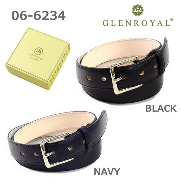 グレンロイヤル ベルト 06-6234 メンズ レザー ブラック ネイビー GLENROYAL ボックス付き 海外正規品 【送料無料(※北海道・沖縄は1,000円)】