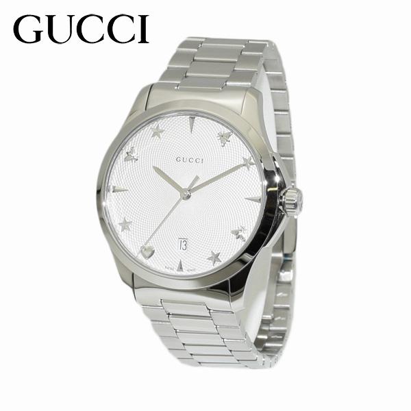 GUCCI(グッチ) 時計 腕時計 YA1264028 Gタイムレス ブレス シルバー メンズ 【送料無料(※北海道・沖縄は1,000円)】