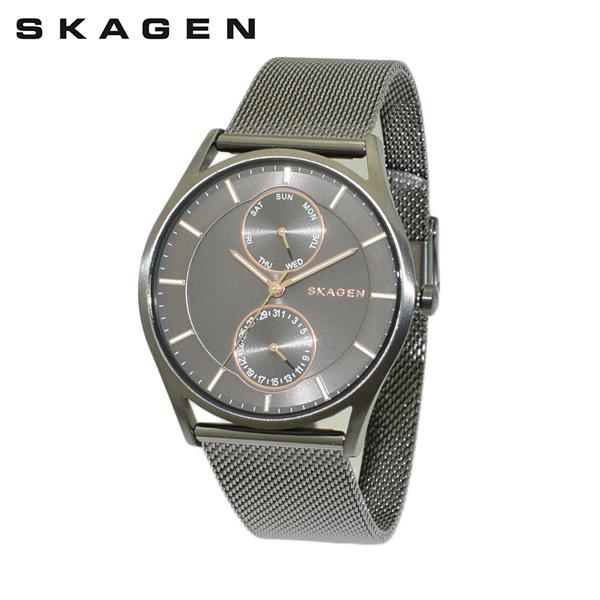 スカーゲン 腕時計 SKW6180 SKAGEN 時計 メンズ ウォッチ ガンメタル ブレス 【送料無料(※北海道・沖縄は1,000円)】