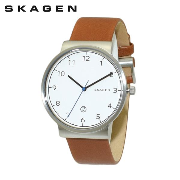 スカーゲン 腕時計 SKW6433 SKAGEN 時計 メンズ ウォッチ ブラウン レザー/シルバー/ホワイト 【送料無料(※北海道・沖縄は1,000円)】