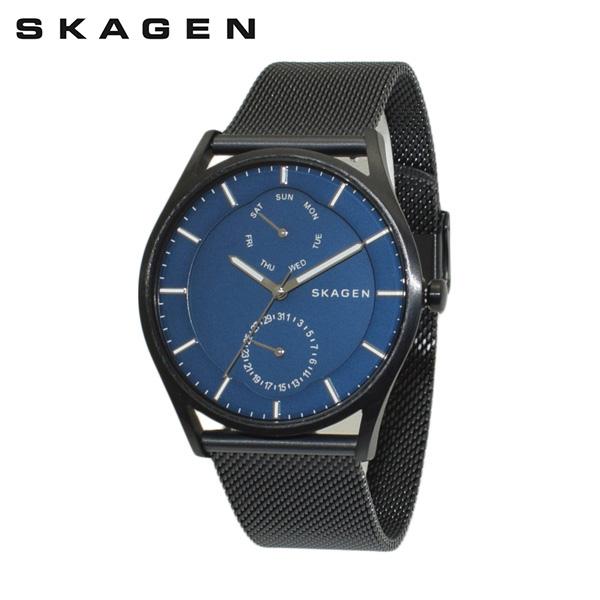 スカーゲン 腕時計 SKW6450 SKAGEN 時計 メンズ ウォッチ ブラック ブレス ブルー 【送料無料(※北海道・沖縄は1,000円)】
