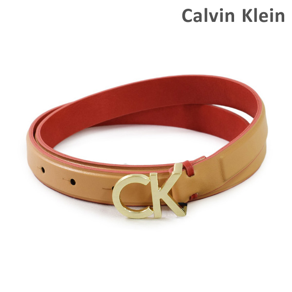 Calvin Klein 割引 カルバンクライン ベルト レザー K60K604154 お買い得 レディース 沖縄は配送不可 ※北海道 230 海外正規品 送料無料 ベージュ
