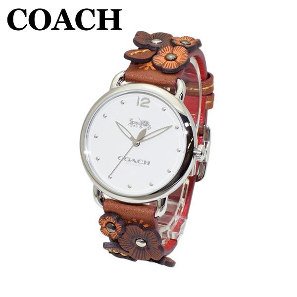 コーチ 腕時計 レディース 14502744 COACH DELANCEY デランシー ブラウン レザー/シルバー 時計 ウォッチ 【送料無料(※北海道・沖縄は1,000円)】