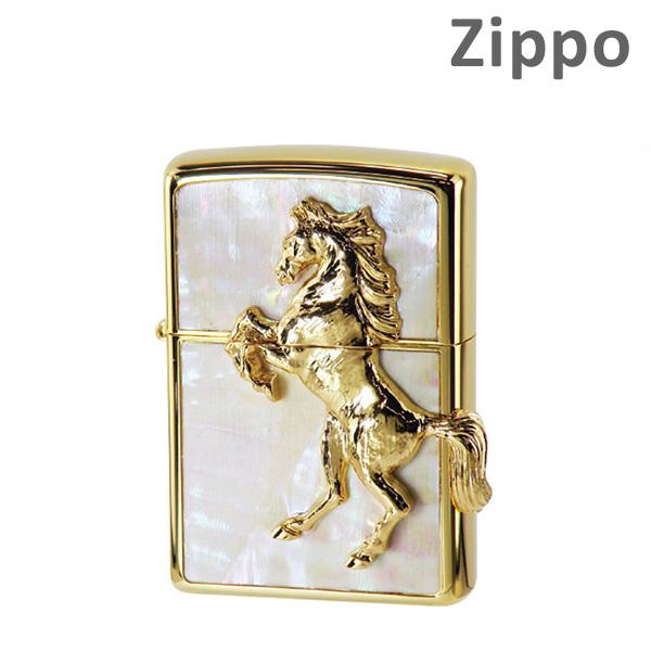 Zippo ライター ジッポー [ウイニングウィニー] スターシェル ゴールドリップ WH 貝貼り ZIPPO ジッポ 【送料無料(※北海道・沖縄は注文不可)】