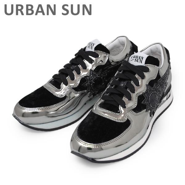 アーバンサン スニーカー LAURE 135 シルバー/ブラック URBAN SUN レディース シューズ 靴 【送料無料(※北海道・沖縄は1,000円)】