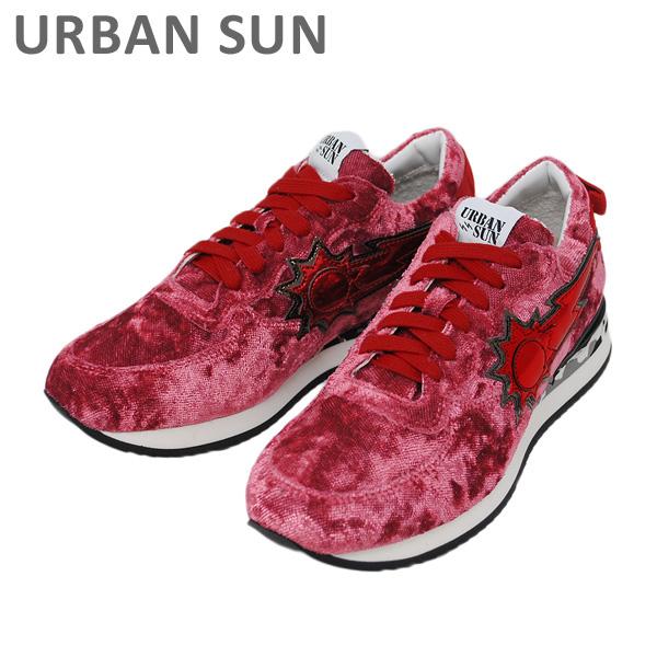 アーバンサン スニーカー LAURE 136 レッド URBAN SUN レディース シューズ 靴 【送料無料(※北海道・沖縄は1,000円)】
