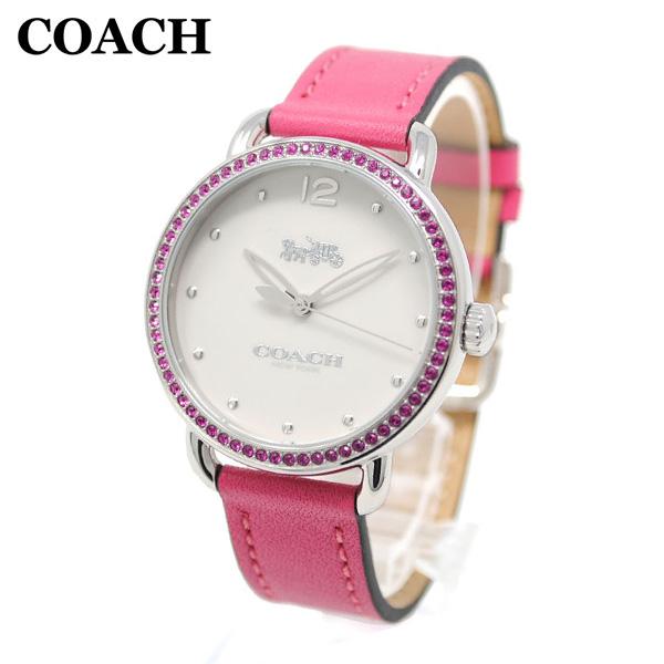 コーチ 腕時計 レディース 14502879 COACH DELANCEY デランシー シルバー/ピンク レザー 時計 ウォッチ 【送料無料(※北海道・沖縄は1,000円)】