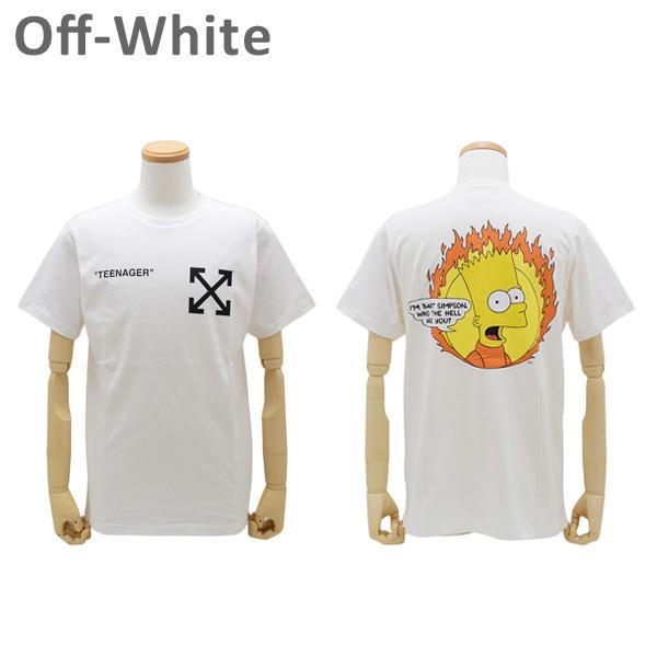 オフホワイト Tシャツ ザ・シンプソンズ ホワイト FLAMED BART S/S SLIM TEE OMAA027 S19-1850350188 Off-White 【送料無料(※北海道・沖縄は1,000円)】