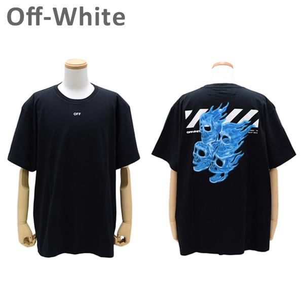 オフホワイト Tシャツ ブラック DIAG SKULLS S/ S OVER TEE OMAA038 S19 1850171088 Off-White 【送料無料(※北海道・沖縄は1,000円)】