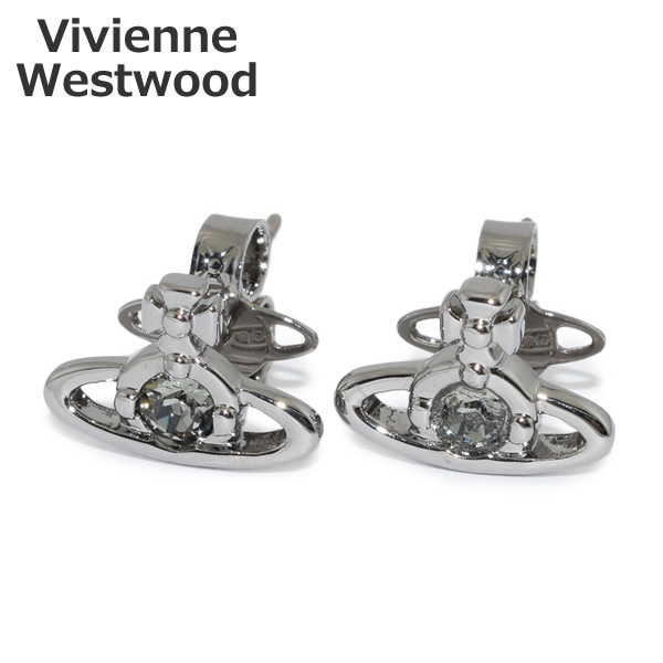 ヴィヴィアンウエストウッド ピアス 724497B/3 ガンメタル ナノソリティア オーブ アクセサリー レディース Vivienne Westwood 【送料無料(※北海道・沖縄は1,000円)】