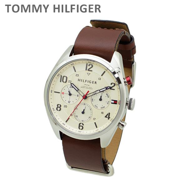 トミーヒルフィガー 腕時計 1791188 レザー ブラウン/シルバー メンズ TOMMY HILFIGER 【送料無料(※北海道・沖縄は1,000円)】