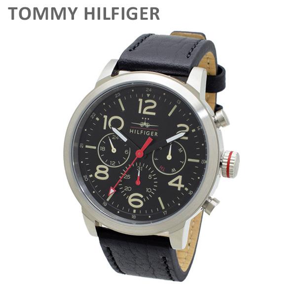 トミーヒルフィガー 腕時計 1791232 レザー ネイビー/シルバー メンズ TOMMY HILFIGER 【送料無料(※北海道・沖縄は1,000円)】