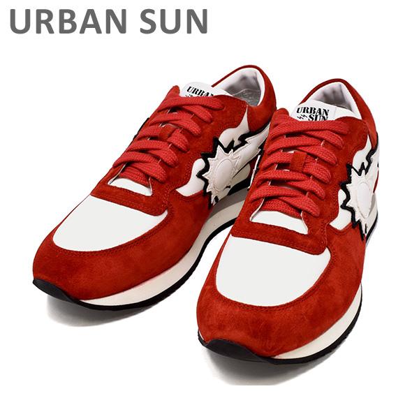 アーバンサン スニーカー VINCENT 205 レッド/ホワイト URBAN SUN メンズ シューズ 靴 【送料無料(※北海道・沖縄は1,000円)】